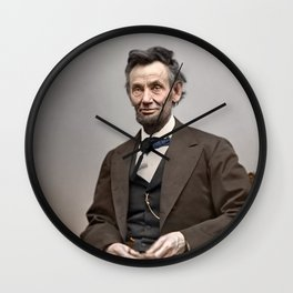 Abraham Lincoln Painting Wall Clock