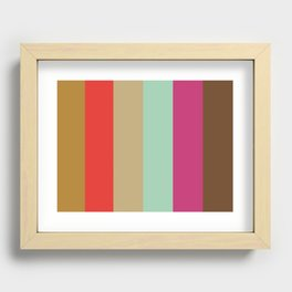 DREAMS : Dark Goldenrod, Red, Ecru, Aquamarine, Magenta, Sepia Recessed Framed Print