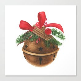Ball with christmas decoration Canvas Print