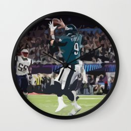 Super Bowl Champion Philadelphia Eagle Nick Foles Catch Wall Clock