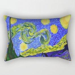 Starry Night of the Dutch Master Rectangular Pillow