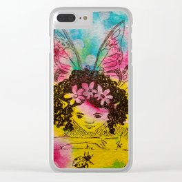 Making Friends ( Fairy and lady bug ) Clear iPhone Case