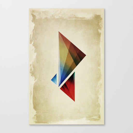 Triangularity Means We Dream in Geometric Colors Canvas Print