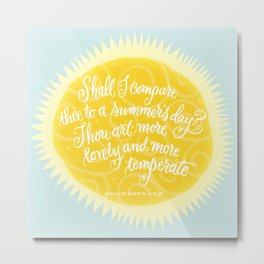 Summer's Day Sunshine Metal Print