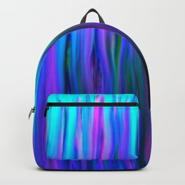 Purple and Blue Water Abstract Oil Painting Backpack