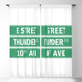 E Street Thunder Road 10th Ave Blackout Curtain