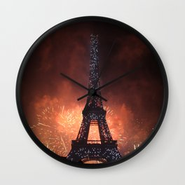 As France Celebrates Their Nation's Birthday Wall Clock