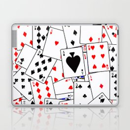 Random Playing Card Background Laptop & iPad Skin
