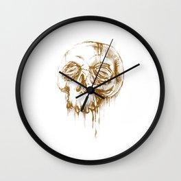 Skull Coffee 1 Wall Clock