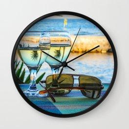 Summer still life Wall Clock