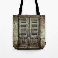 italian Tote Bags featuring Italian Door III by Maria Heyens