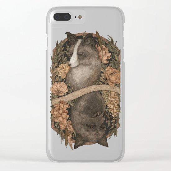Friend Fox, Foe Fox Clear iPhone Case