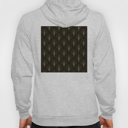 At The Piano Bar... Art Deco Gold Pattern Hoody