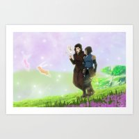 korrasami Art Prints featuring Korrasami by JoGoNeXX