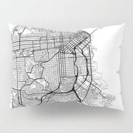 San Francisco Map White Pillow Sham