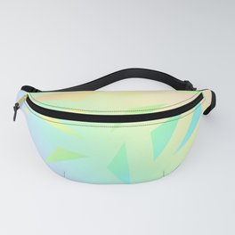 Pastel Gradient Design with Pastel Ombre Triangles! Fanny Pack