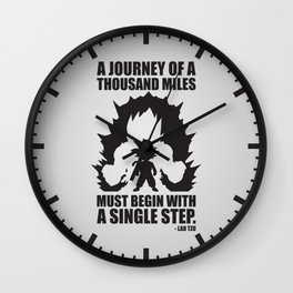 A Journey Of A Thousand Miles (Goku) Wall Clock
