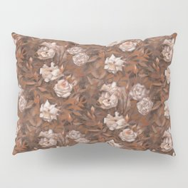 White roses in earth shades Pillow Sham