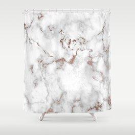 Eureka Rose Marble Shower Curtain