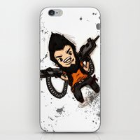 borderlands iPhone & iPod Skins featuring Borderlands 2 - Chibi Gunzy! by Emme Gray