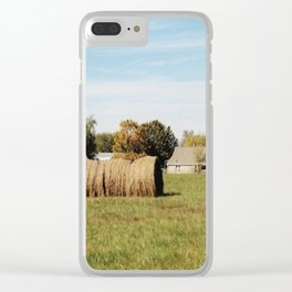 Rolled Hay Clear iPhone Case
