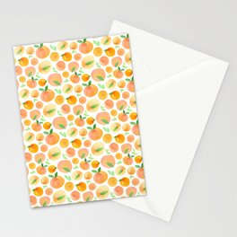 Watercolor Peaches Pattern Stationery Cards