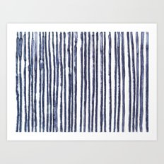 Gray stripes Art Print