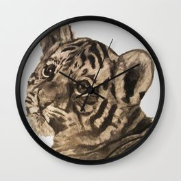 Baby Tiger Wall Clock
