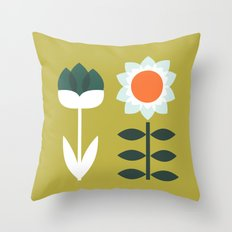 Set Sun Olive Throw Pillow