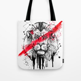 Lion King of the Jungle, trash polka Tote Bag
