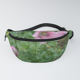 Poppies in rain Fanny Pack