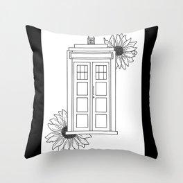 Doctor Who Tardis Illustration Design Throw Pillow
