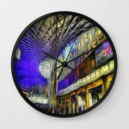 Kings Cross Rail Station Van Gogh Wall Clock