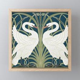 Swan Rush and Iris by Walter Crane Framed Mini Art Print