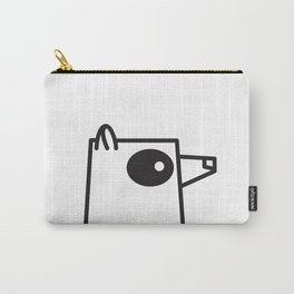 Minimalist Raccoon Carry-All Pouch