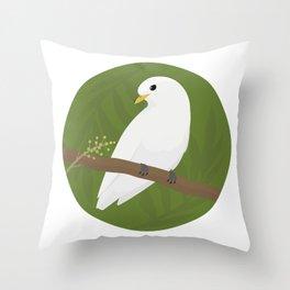 Yellow-billed Cotinga Throw Pillow