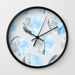 Feather Cloud Dot Pattern Wall Clock