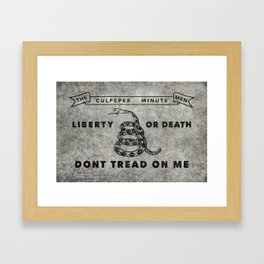 Culpeper Minutemen flag, aged vintage style Framed Art Print