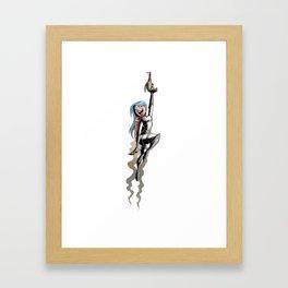 Rocket Girl Framed Art Print