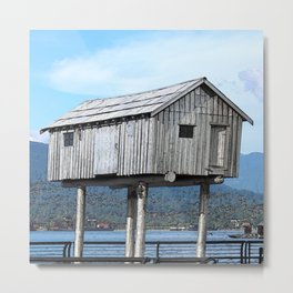 Stilted Cabin Metal Print