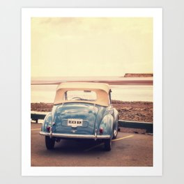 Beach Bum Vintage Car Art Print