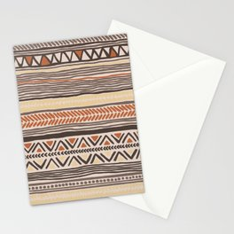 Hand Drawn Ethnic Pattern Stationery Cards