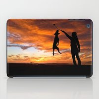 workout iPad Cases featuring Sunset Workout by Sandy Broenimann