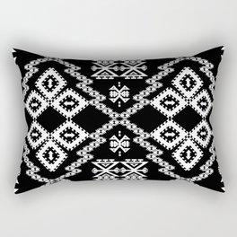 Black And White Aztec Rectangular Pillow