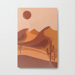 Abstract Desert Dune Metal Print