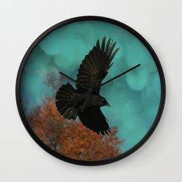 Soaring Crow Wall Clock