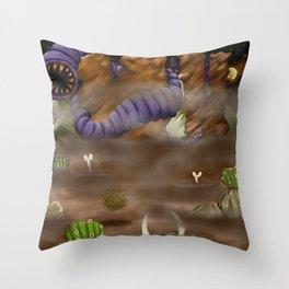 Beware the Desert Throw Pillow