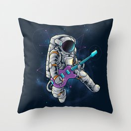 Spacebeat Throw Pillow