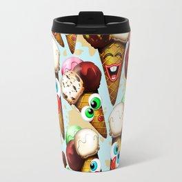 Ice Cream Cones Cartoon Pattern Travel Mug