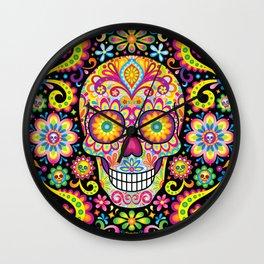 Sugar Skull Art (Spark) Wall Clock